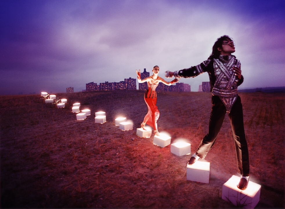David LaChapelle An Illuminating Path.© Adagp, Paris 2018