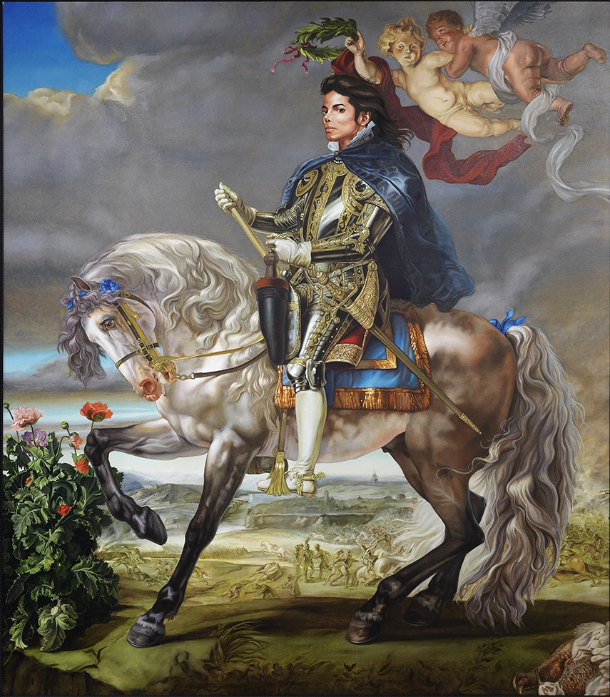 Kehinde Wiley Equestrian Portrait of King Philip II (Michael Jackson). © Adagp, Paris 2018