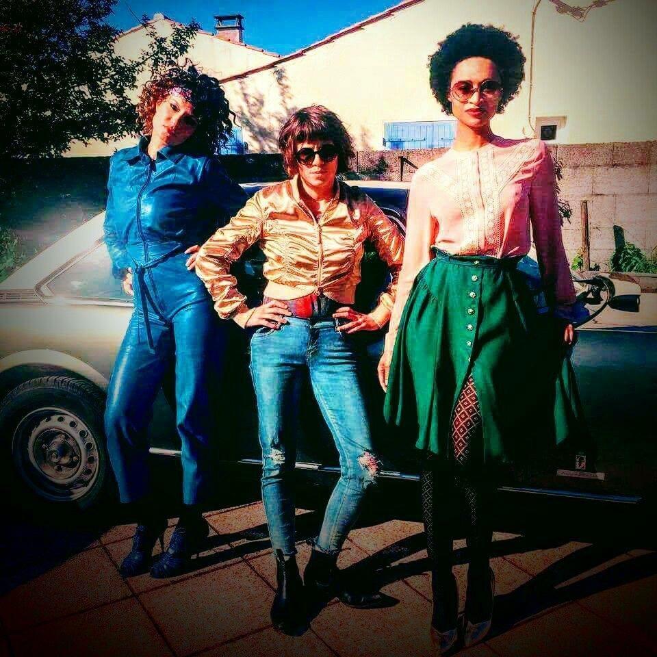 Émilie, Cécile et Blanche. 📸 : Bodie