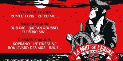 Programmation Provisoire de La Nuit de l'Erdre 2019