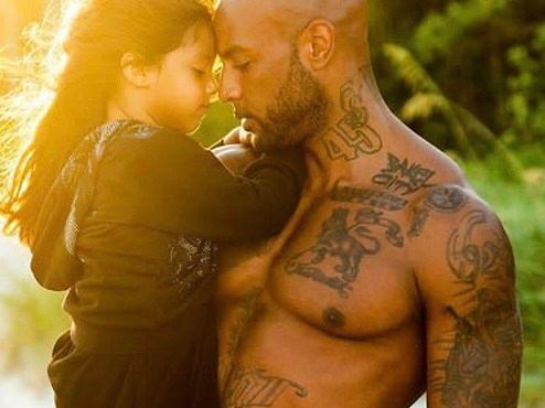 Booba et sa fille (Luna). ©️: Guillaume Cagniard