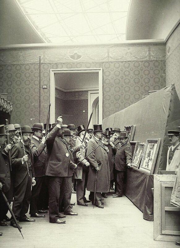 Le vote du jury des peintures en 1903