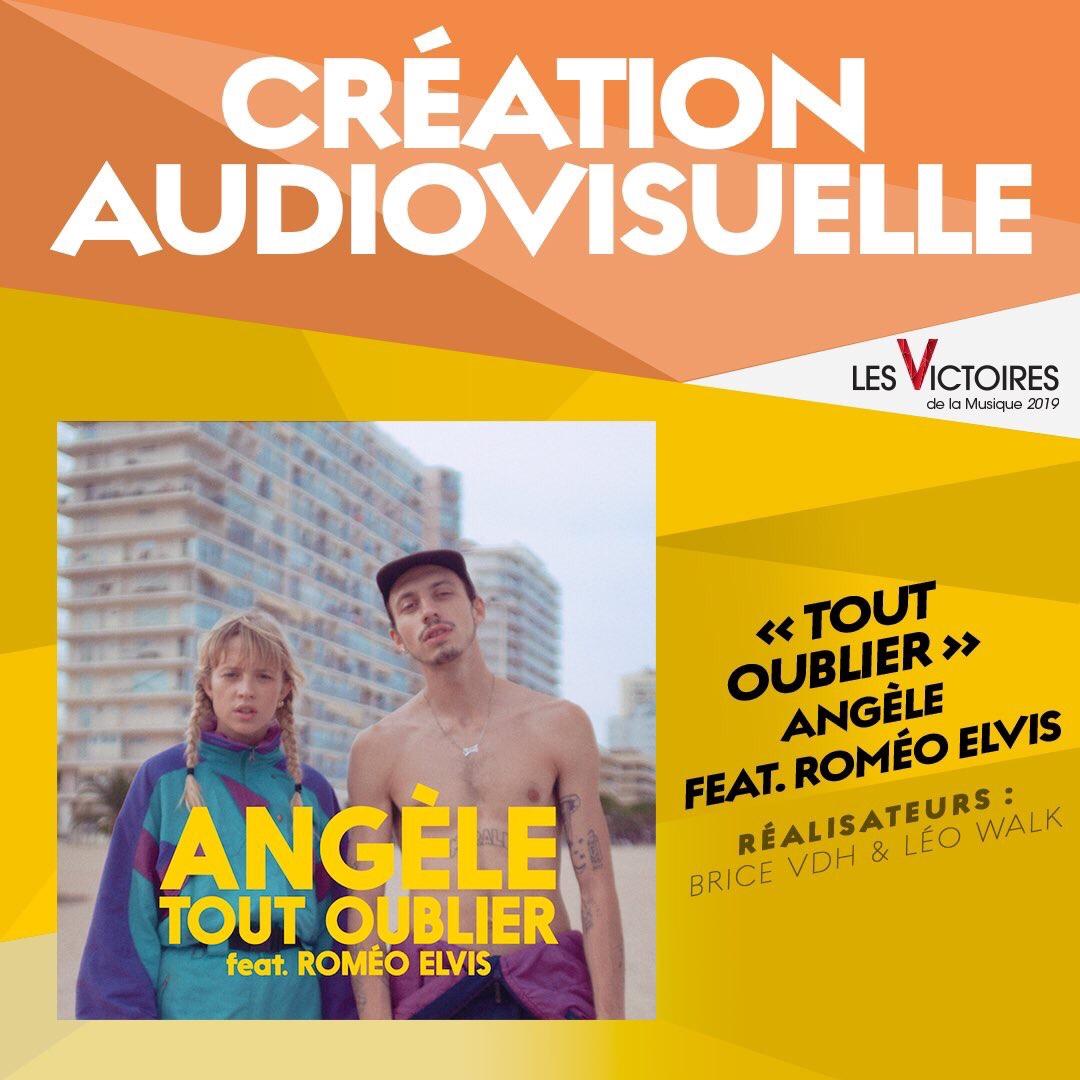 Angèle et Roméo Elvis, Création audiovisuelle de l'année.