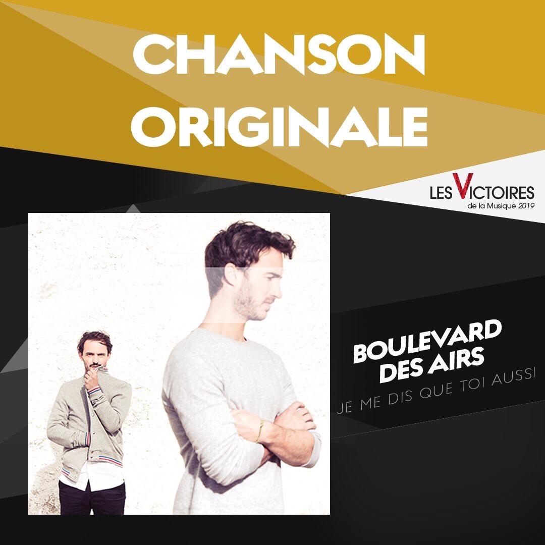 Boulevard des Airs, Chanson Originale de l'année.