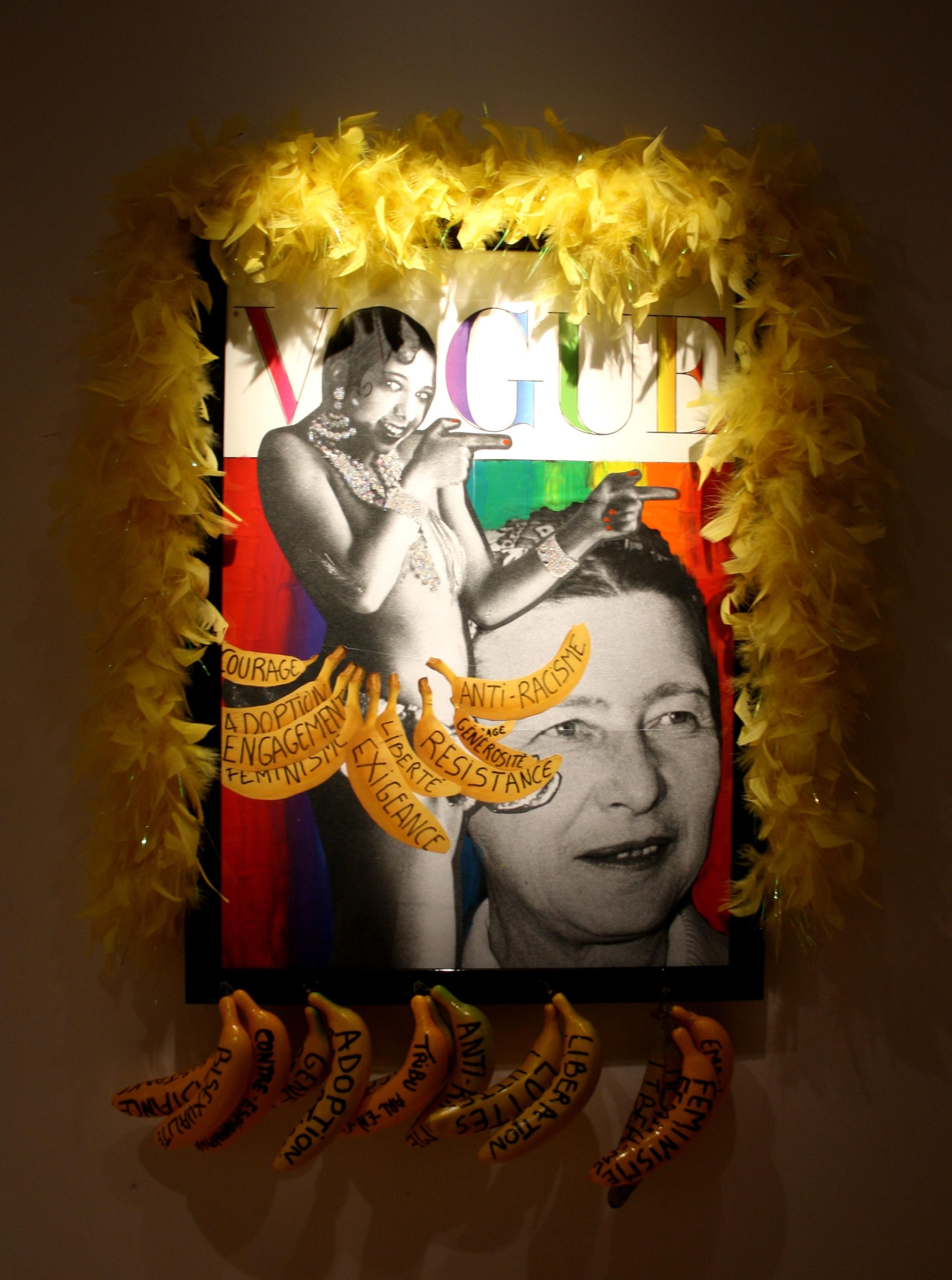 Simone de Beauvoir et Joséphine Baker par Orlan