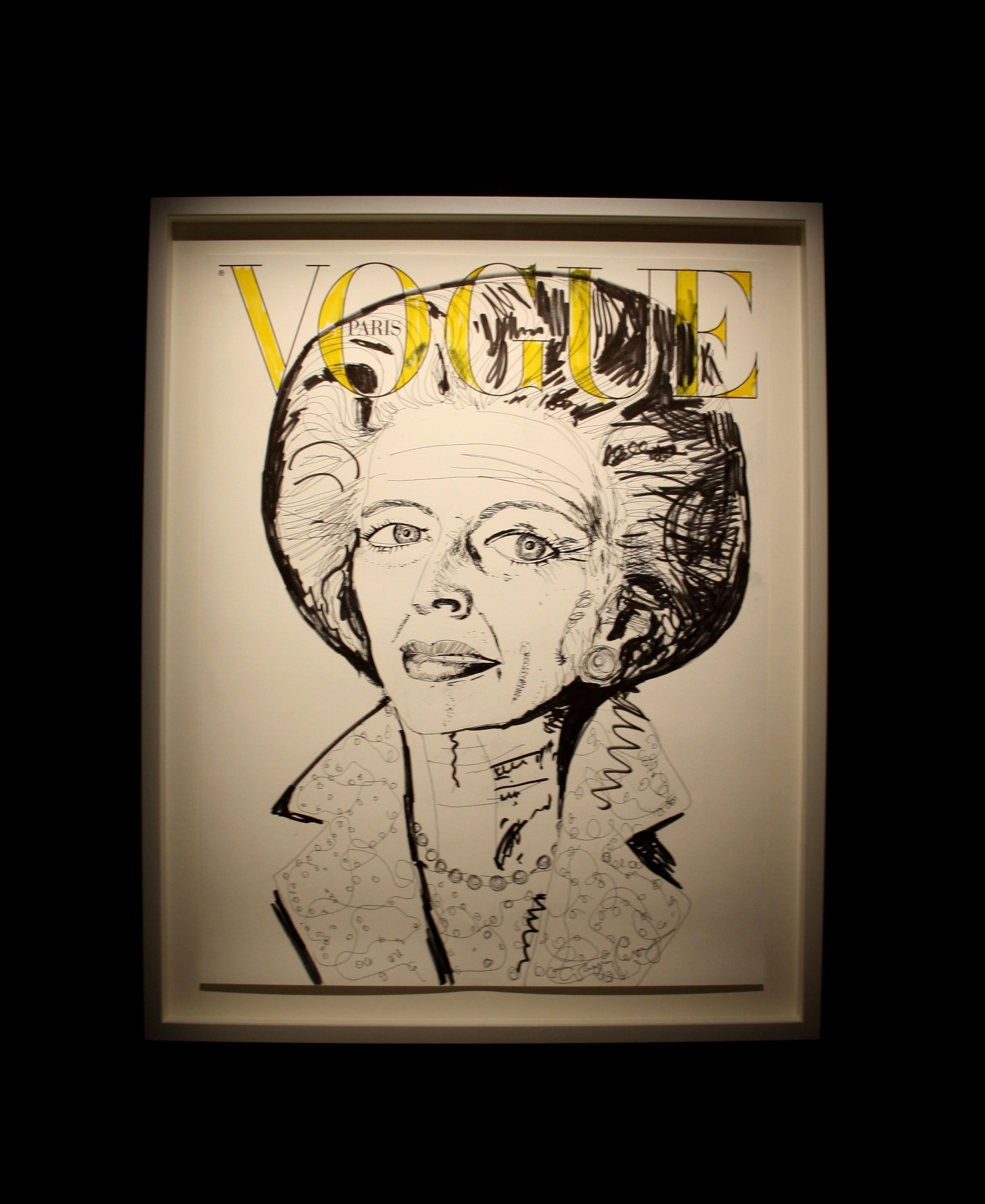 Couverture Vogue Paris revisitée par le britannique Grayson Perry.