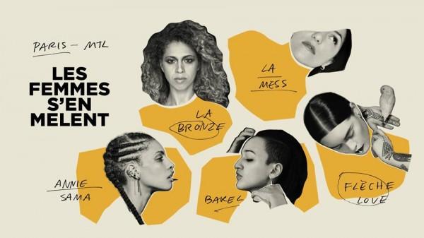 Affiche soirée spéciale Les femmes s'en Mêlent, du 8 Mars 2019.