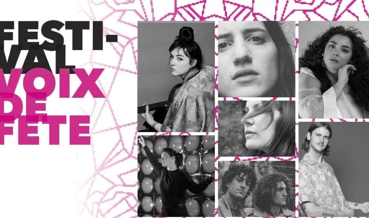affiche de la soirée du 23 mars organisée par le festival Voix de Fête