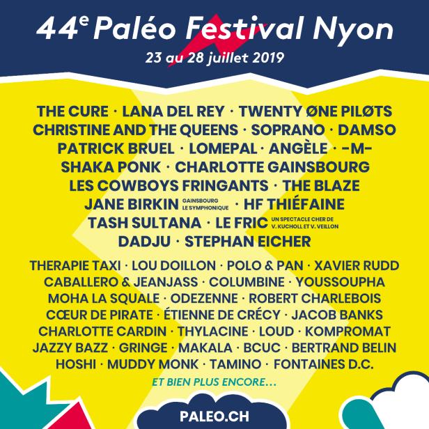 Programmation (presque) complète de la 44e édition du Paléo Festival