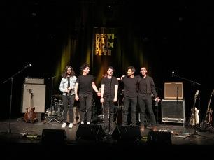 Le quintet Bigger à la fin de sa prestation, samedi 23 mars 2019 au festival Voix de Fête. © saint_xsl1