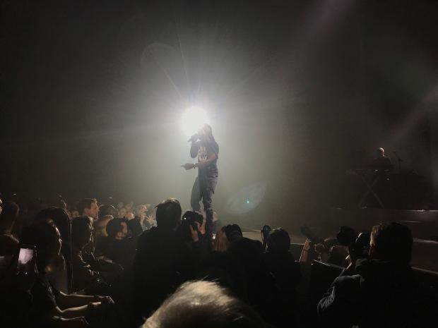 Youssoupha sur la Grande scène de la Seine Musicale, dimanche 7 avril 2019, dans le cadre du festival Chorus.
