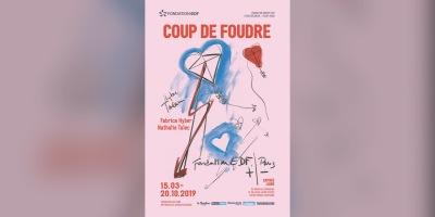 """Affiche de l'exposition """"Coup de Foudre"""" à la Fondation"""