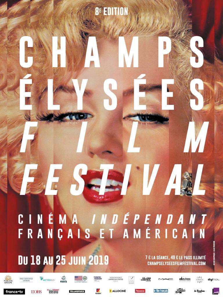 Affiche de la 8ème édition du Champs Elysées Film Festival