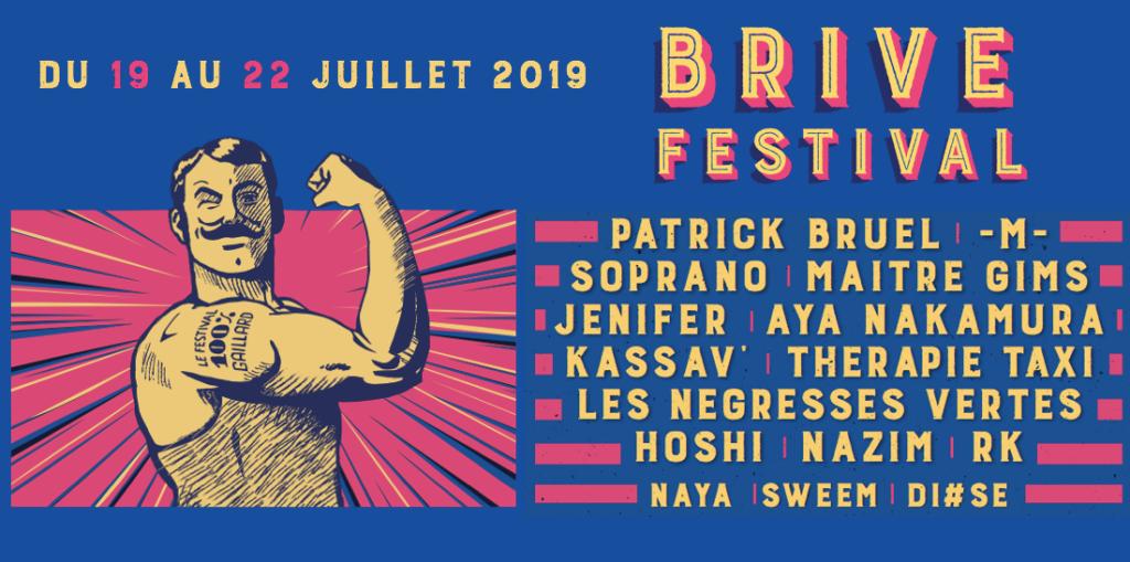 Programmation Brive Festival 2019.