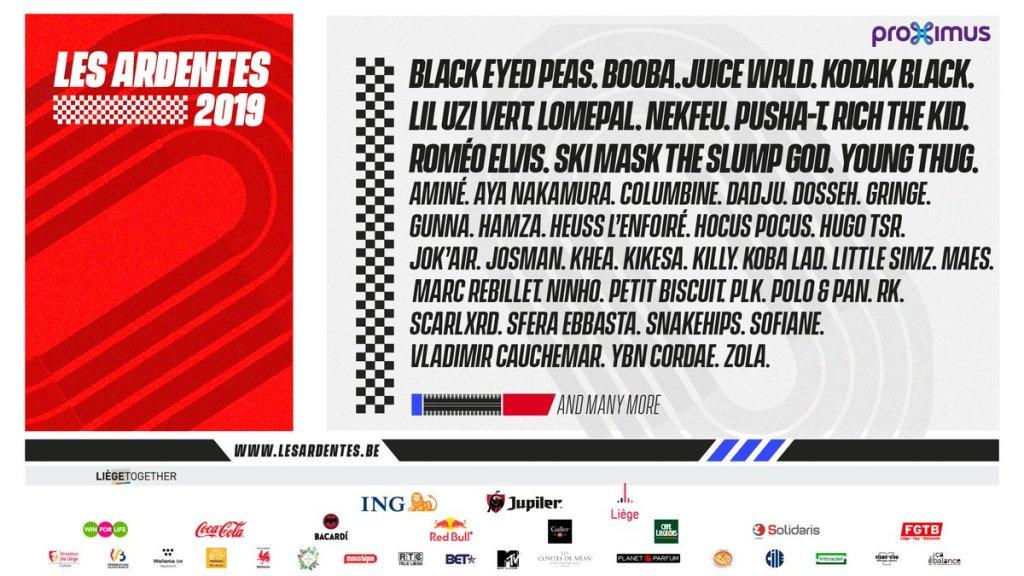 Programmation Les Ardentes 2019.