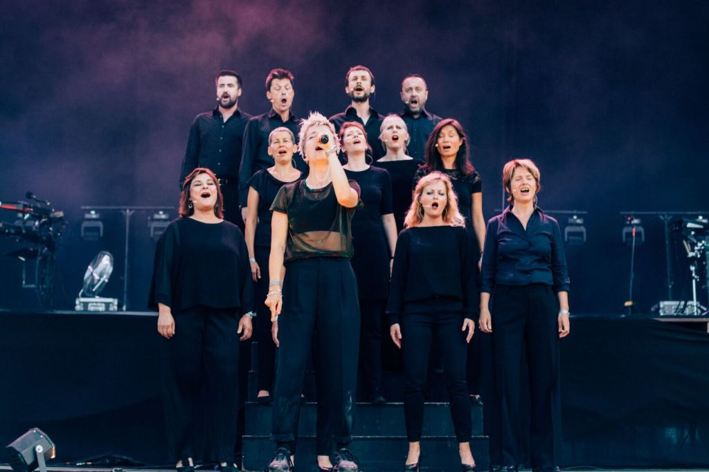 Jeanne Added et l'ensemble Accentus, Rock en Seine 2019. ©: Mathieu Foucher