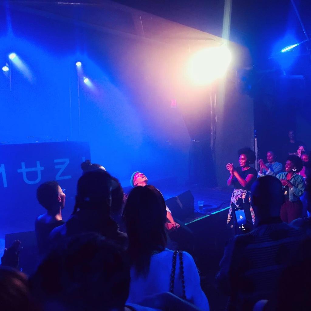 le jeune producteur et Dj Muzi au Badaboum le 27 septembre 2019.