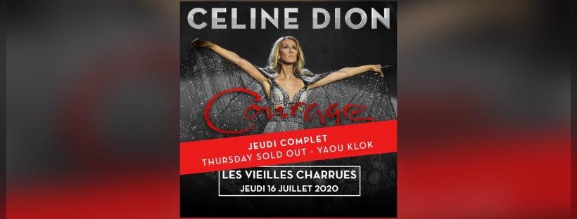 Celine Dion aux Vieilles Charrues 2020.