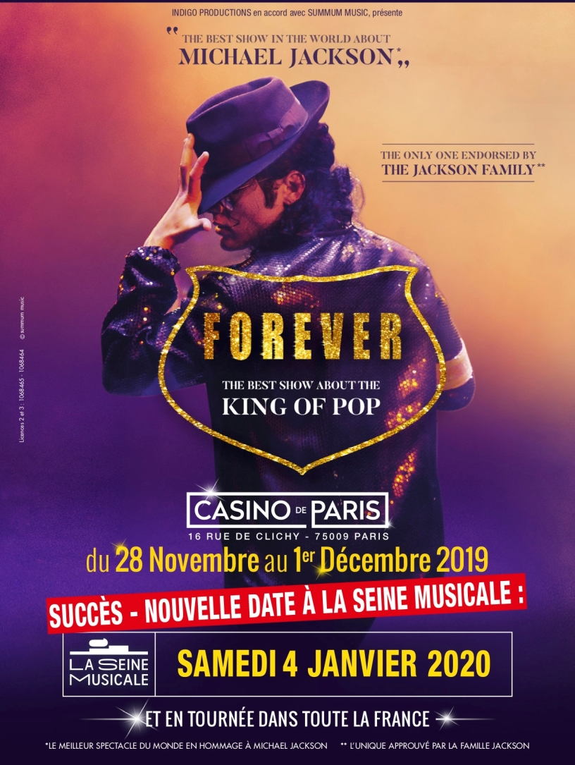"Affiche, ""Forever, The best show of King Of Pop"""