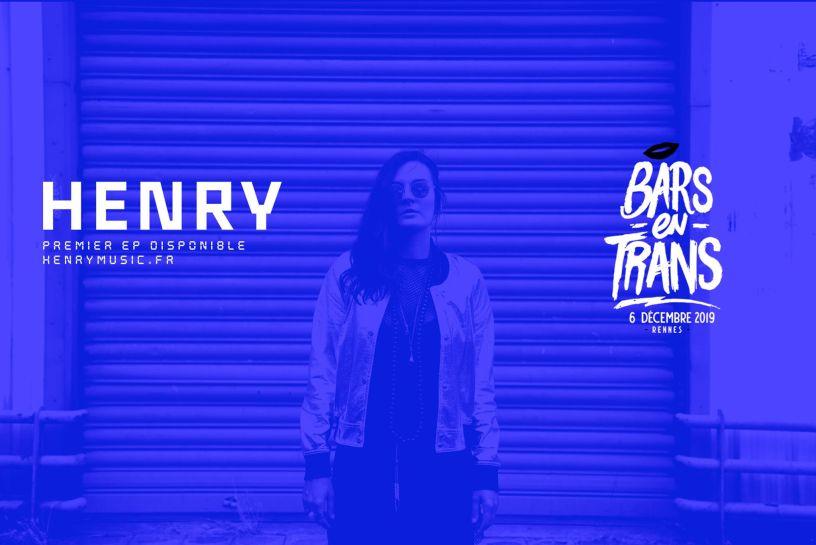 Henry, à l'affiche des Bars en Trans le 6 décembre 2019.