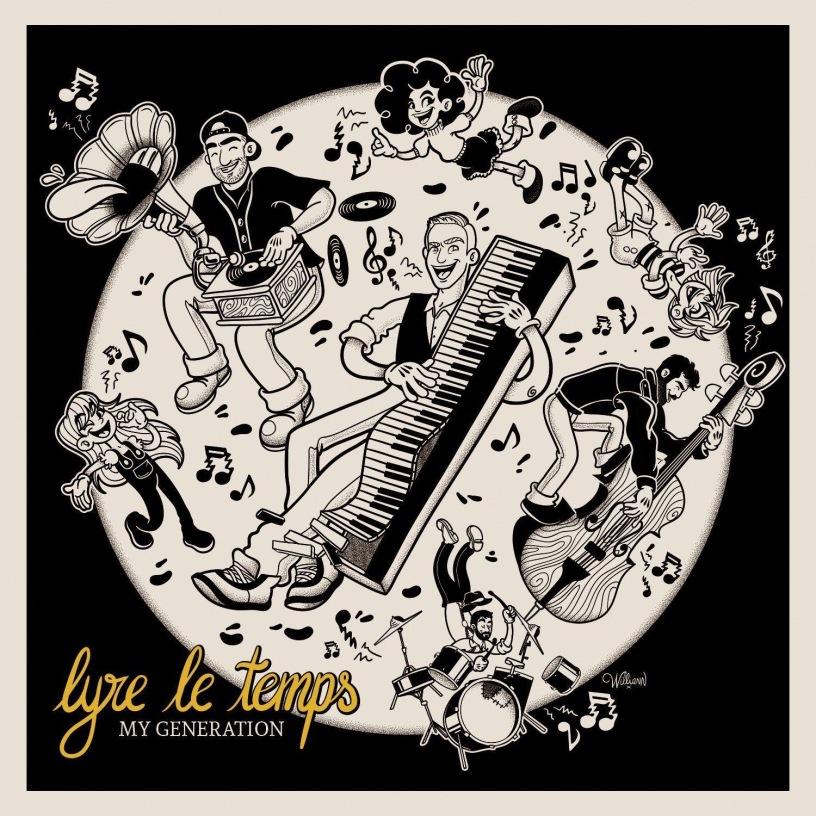 """Visuel EP """"My Generation"""" de Lyre le Temps"""