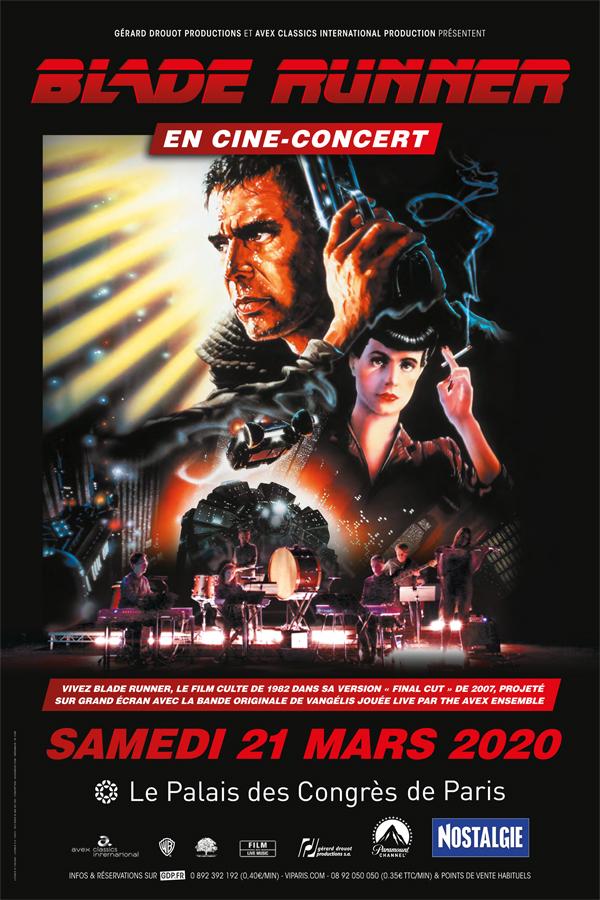 """Affiche """"Blame Runner"""" en ciné-concert au Palais des Sport le 21 mars 2020."""