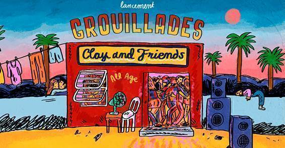 "Visuel du nouvel EP ""Grouillades"" de Clay and Friends."