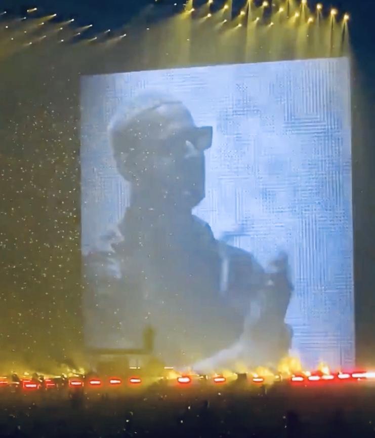 Dj Snake lors de son show exceptionnel à l'U Arena, samedi 22 février 2020.