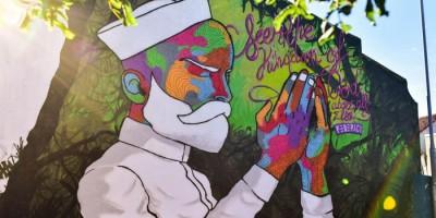 """Exposition """"Afrofuturisme Ecologique"""" de Raphael Federici à l'Espace Oberkampf."""