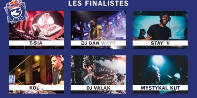 Les six DJs finalistes du RedBull 3style : T-Sia, Dan Wayo, Stay'V, Kodh, Valk, Mystykal Kut