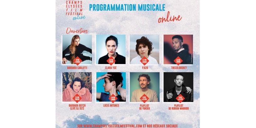 Programmation musicale online Champs-Élysées Film Festival
