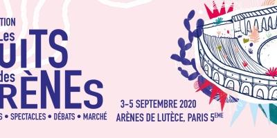 Affiche 6ème édition Les Nuits des Arènes, du 3 au 5 septembre 2020.
