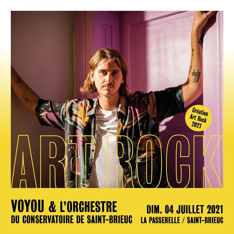 Voyou & l'orchestre du conservatoire de Saint-Brieuc en avant-première du festival Art Rock le 4 juillet 2021