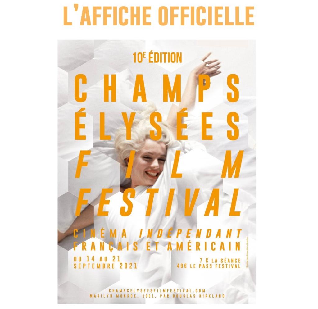 Affiche de la 10ème édition du Champs Elysées Film Festival