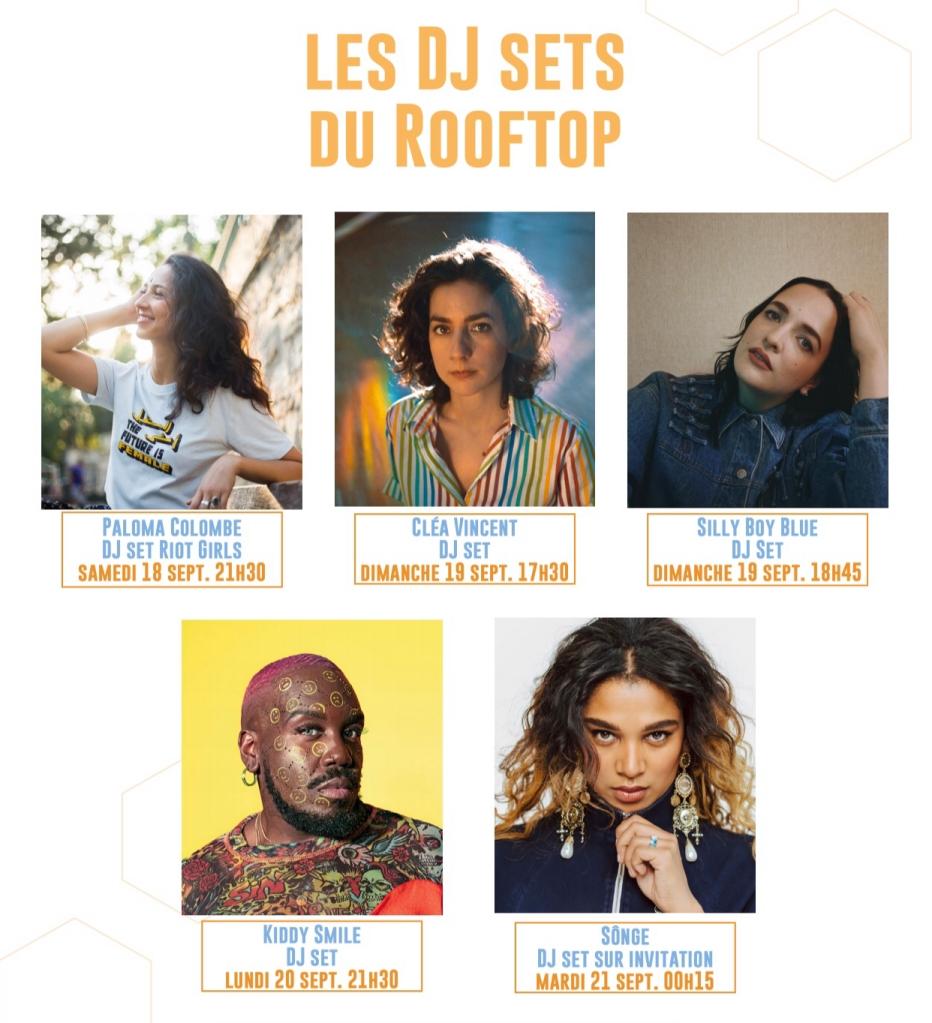 Les Dj Sets du rooftop